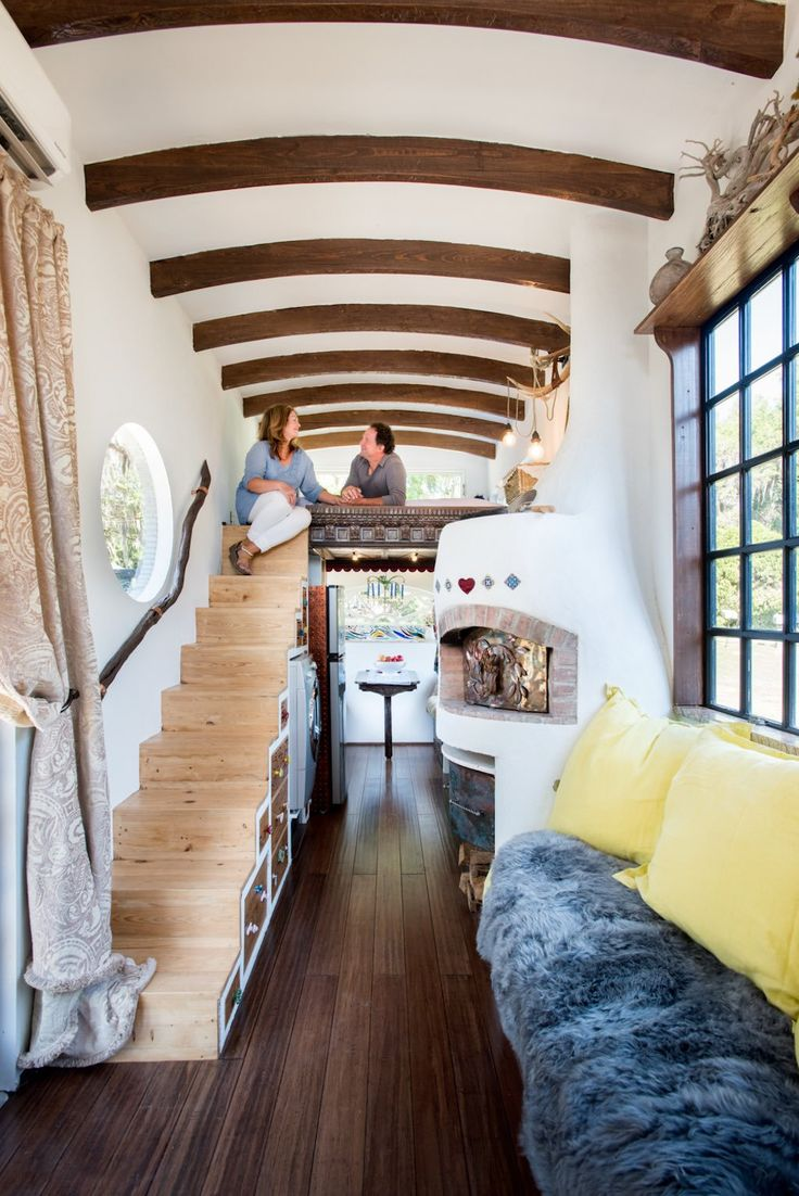 Robert and Rebekah Sofia, who built the entire home for around $15,000, using many reclaimed and recycled materials. Learn more here and here. This tiny home was also featured in Ocala Style Magazi…