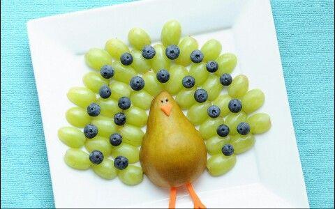 Puse las uvas porque es mi fruta favarita