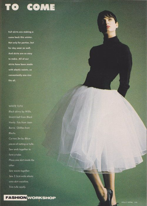 Dolly April 1987 | The Shape Of Skirts To Come (Belinda Riding) 02