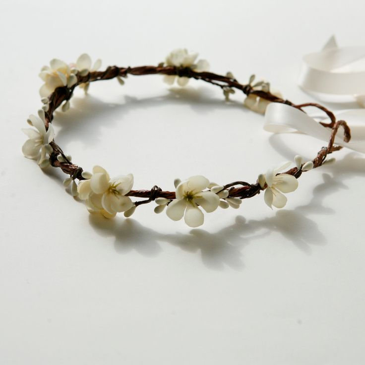 how to make a flower garland for your head
