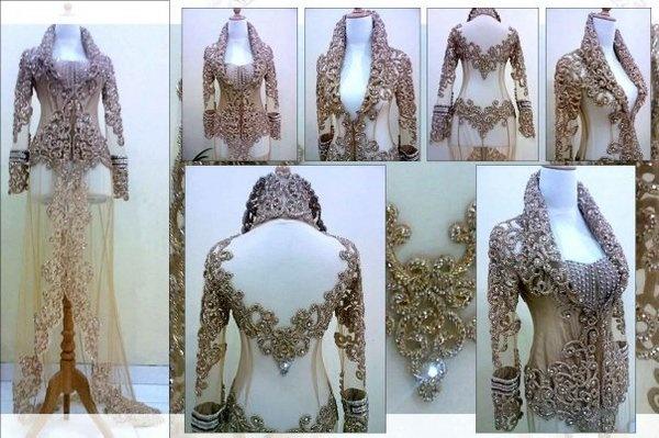 Myura kebaya. gorgeous patterns - Detail; Bakc Design #desi #indian #fashion #pakistani #southasian #wedding