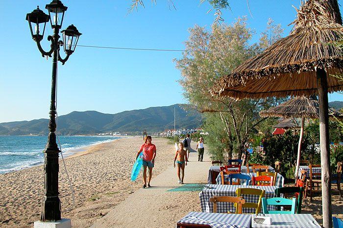 Sarti Greece   Sarti beach cafe, Sithonia, Halkidiki, Greece