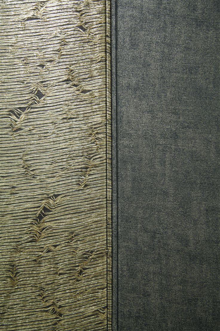 A combination of two pieces of fabric on the wall. Fabric by Vallila Interior