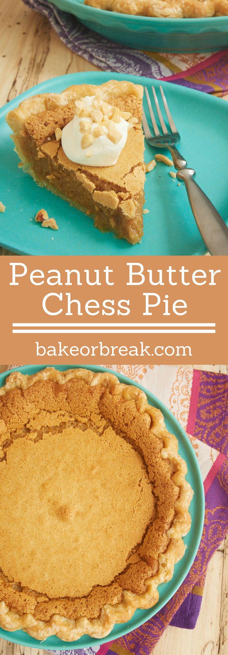 Add a peanut butter twist to a classic pie with this fantastic Peanut Butter Chess Pie! - Bake or Break ~ http://www.bakeorbreak.com