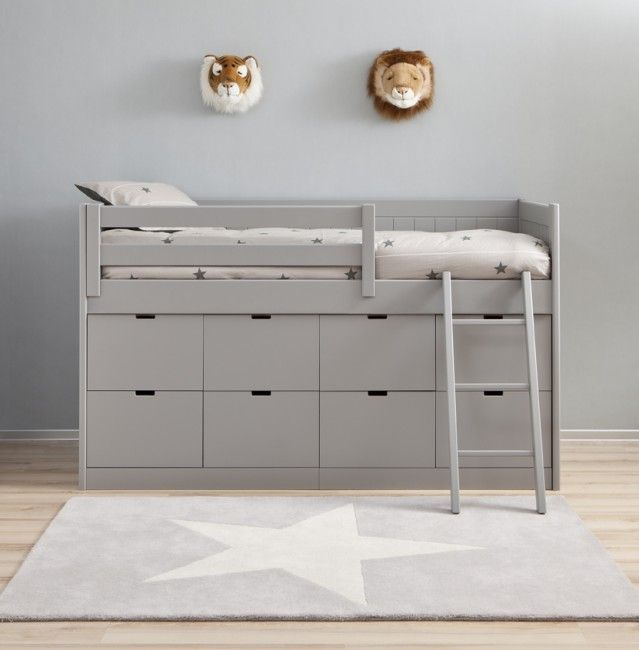 Liso Kids Box Bed by Asoral - in 16 colours. | Nubie - Modern Baby Boutique | via Mr. Fox