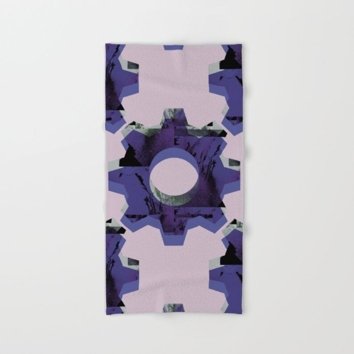 IMPROBABLE GREASE REEL blue Hand & Bath Towel