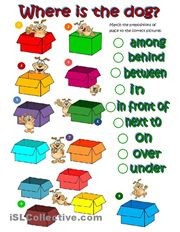 Where's the dog - prepositions of place