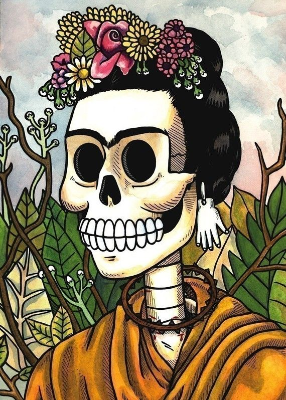 I know the skull thing is creepy, but it goes of a dia de los muertos theme that I absolutely LOVE.