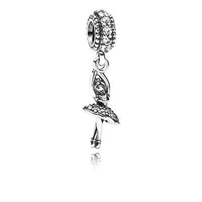 Let the elegant ballerina twist and turn on your bracelet and create an enchanting sparkling effect. $45 #PANDORA #PANDORAcharm #PANDORAaw14
