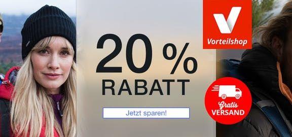20% Rabatt bei Vorteilsshop. Outdoorbekleidung günstiger online #rabattaktion #outdoorbekleidung