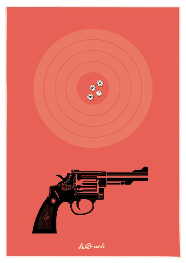 "Right on target    Inspirational poster for Le Brand: ""Right on target"". Illustration by Anders Persson, Le Brand"
