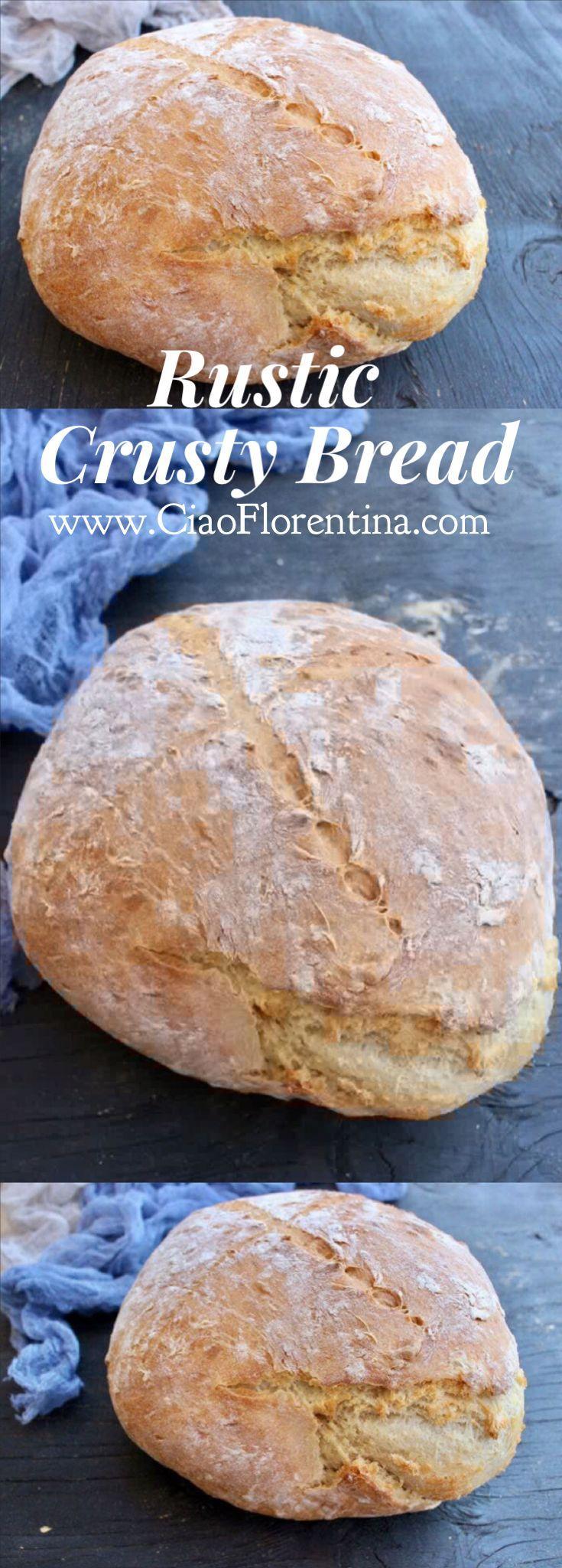 Rustic Crusty Bread Recipe | http://CiaoFlorentina.com @CiaoFlorentina