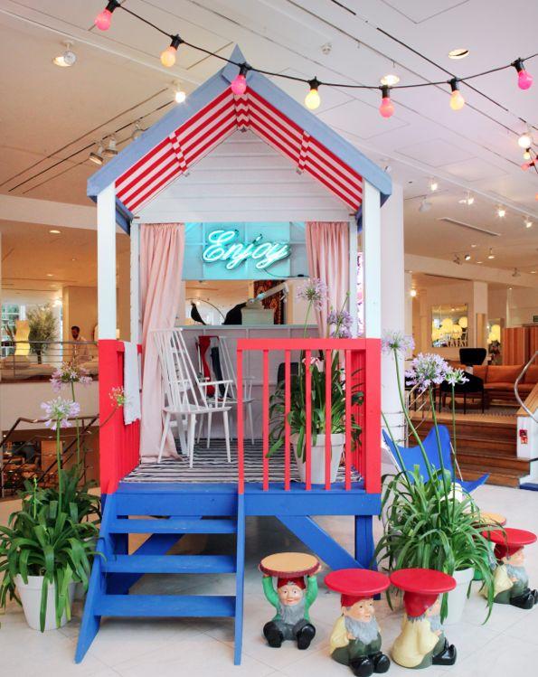 fun beach hut / playhouse: Plays House, Fun Beaches, Kids Spaces, Beaches Huts, Playhouse Ideas, Shops Display, Wendy House, Conran Shops, Backyard Spaces
