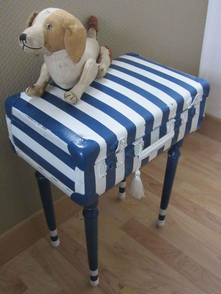 valise en carton relook e devenue petit coffre de. Black Bedroom Furniture Sets. Home Design Ideas