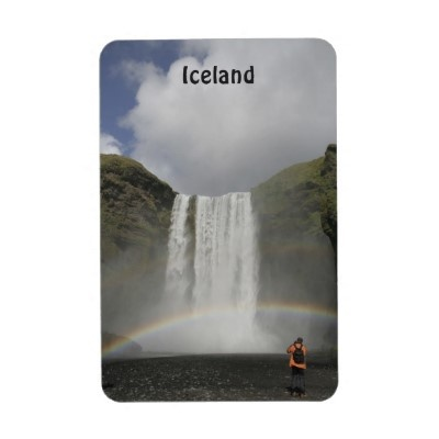Waterfall in Iceland Premium Flexi Magnet by claudiaf65Zazzle Stores, Heavy Sky, Skogafoss Waterfall, Flexi Magnets, Premium Flexi, Iceland Premium