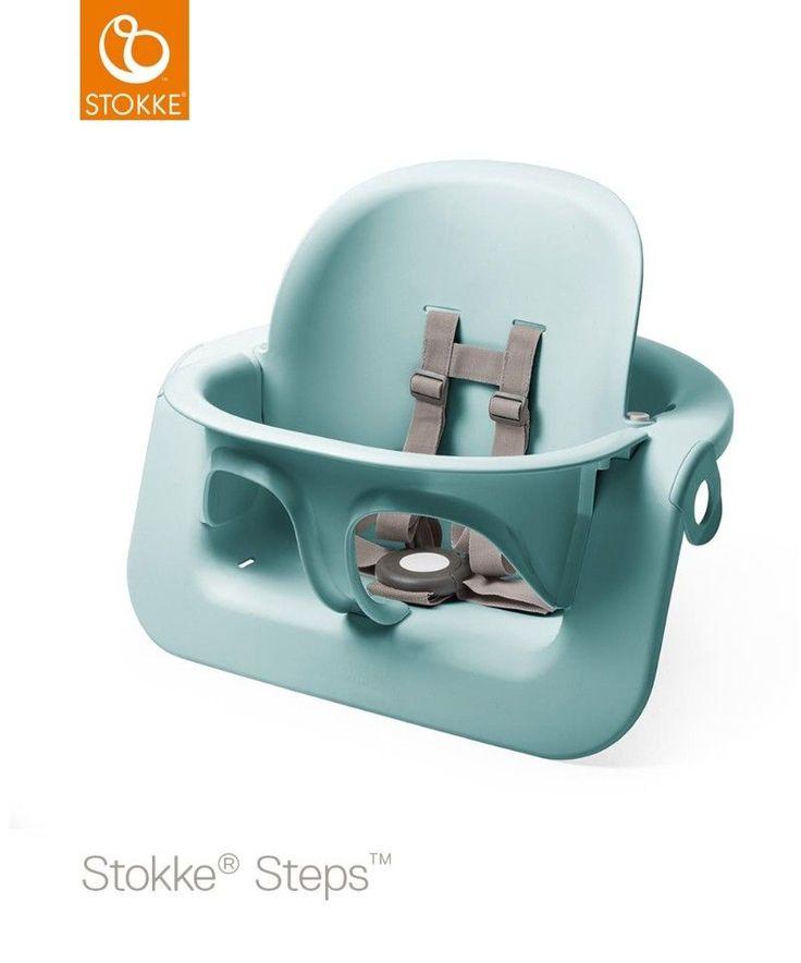 On adore les nouveaux coloris de baby set pour chaise haute Steps Stokke  #aqua #stokke #babyset #chaisehaute