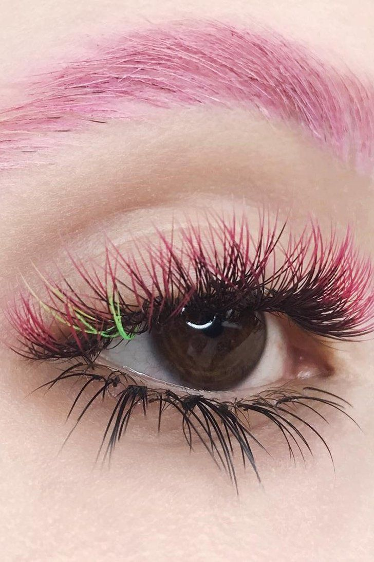 94f85fb1763 Rainbow Eyelash Extensions Are the Beauty Trend You Didn't Know You Wanted  #HowToUseMakeupBrushes