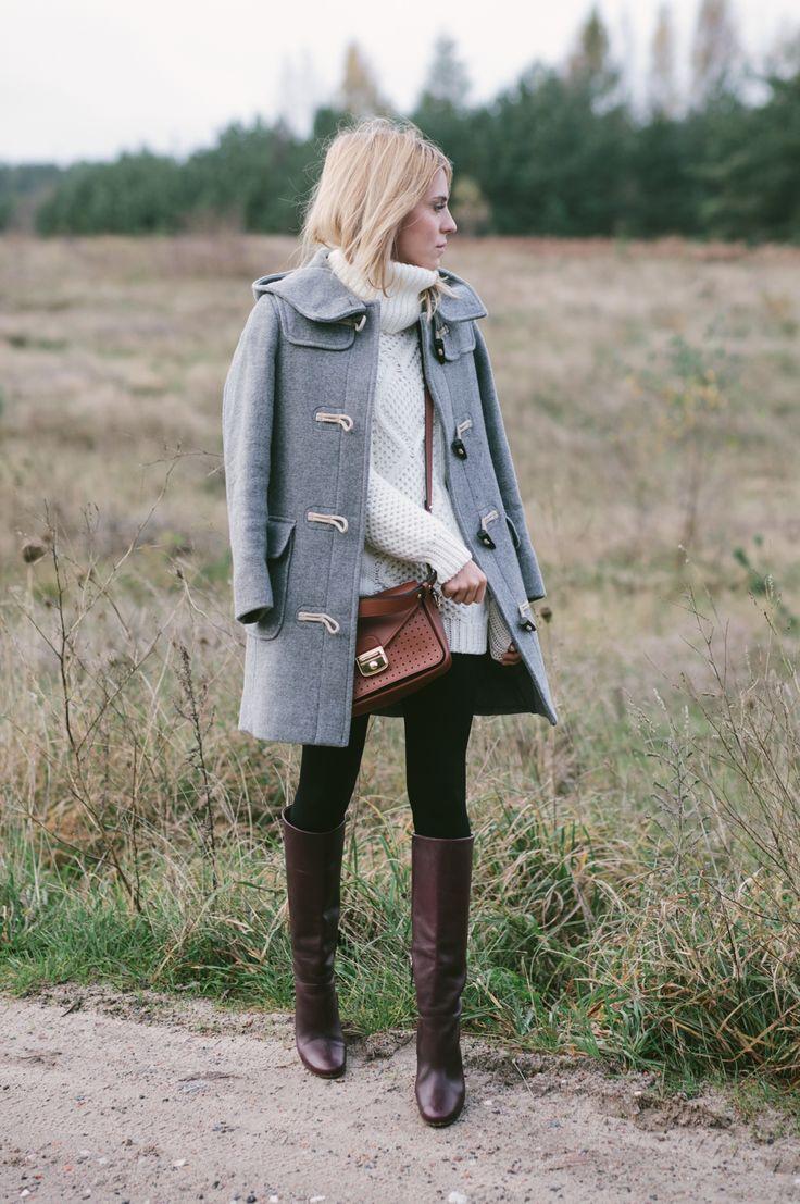 leather bag / torebka - longchamp leather boots / skórzane kozaki - Massimo Dutti (stara kolekcja) wool sweater / sweter z wełny - MLE Collection (dostępne są ostatnie sztuki) jeans / dżinsy - Topshop (model Leigh, który jest cieńszy od Jamie) duffle coat / budrysówka - prototyp MLE