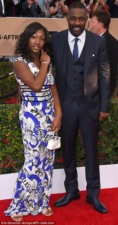 Double acts: While Christian Bale was joined by wife Sibi Blazic (L), double-winner Idris ...