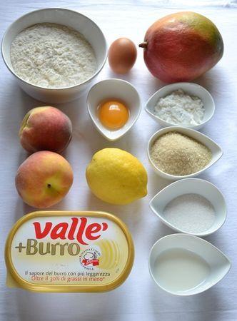 Crostata mango e pesche