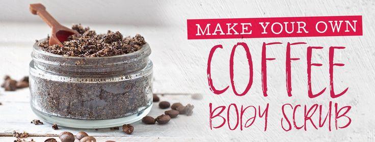 Make your own coffee body scrub