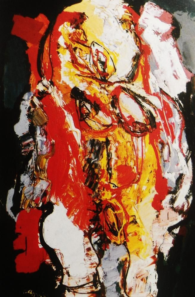 Art - COBRA - Karel Appel - Red naked