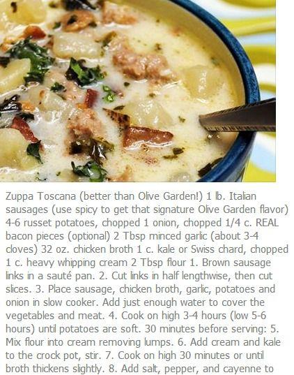 Zuppa Toscana (better than Olive Garden)