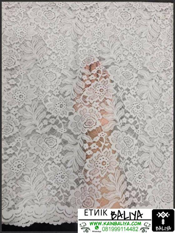 kain Kebaya semi Prancis Terbaru Warna Putih