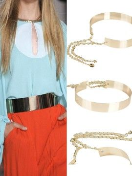 Shop Metallic Golden Belt from choies.com .Free shipping Worldwide.$18.99