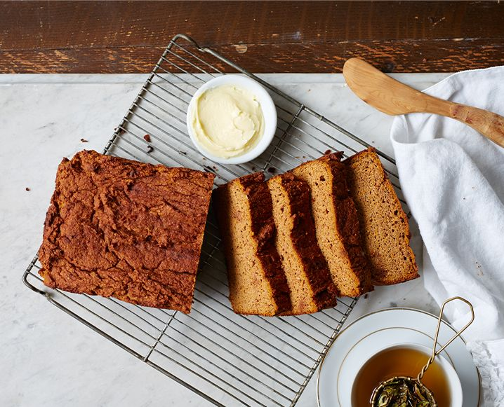 Our fave functional medicine doctor is shaking things up in the kitchen with his new cookbook, which includes this spiced sweet potato bread recipe that's destined to be our new go-to comfort food...