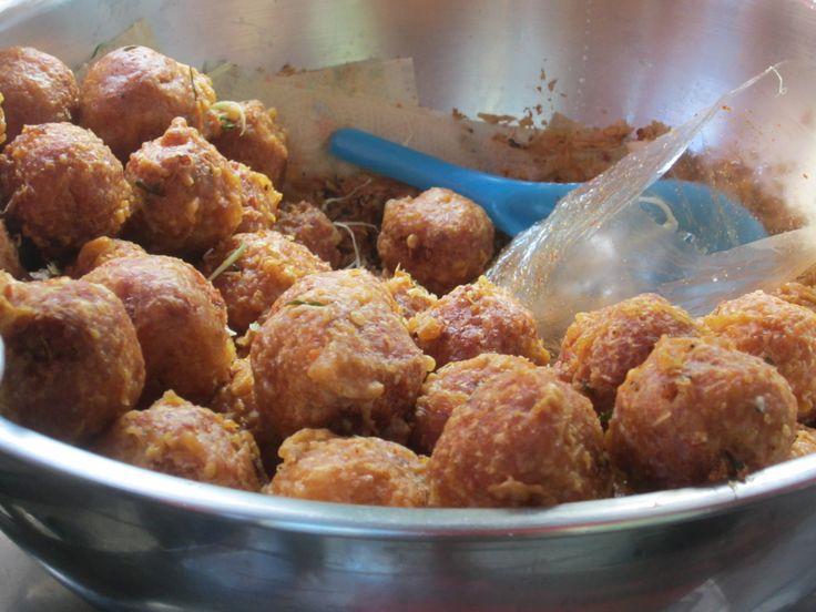 Bangkok--rice balls in crisp, fried corn