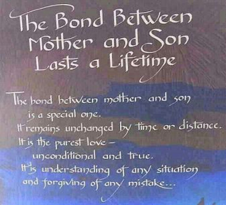 Mom And Son Quotes Pictures: Quotes About Mother And Son Bond. QuotesGram