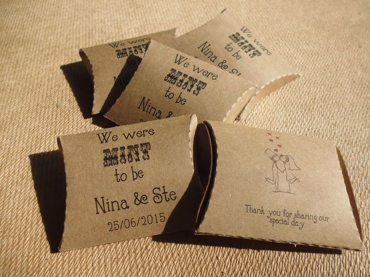 20 x Personalised Mint to be Wedding favour pillow boxes,Lichfield mint imperial