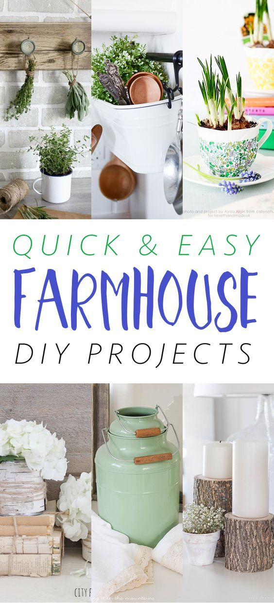 Quick and Easy Fabulous Farmhouse DIY Projects !