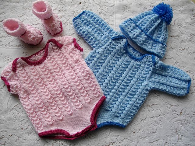 Knitting Patterns For Premature Babies : 26. Reborn Dolls Envelope Neck Body Suit pattern by Lynne ...