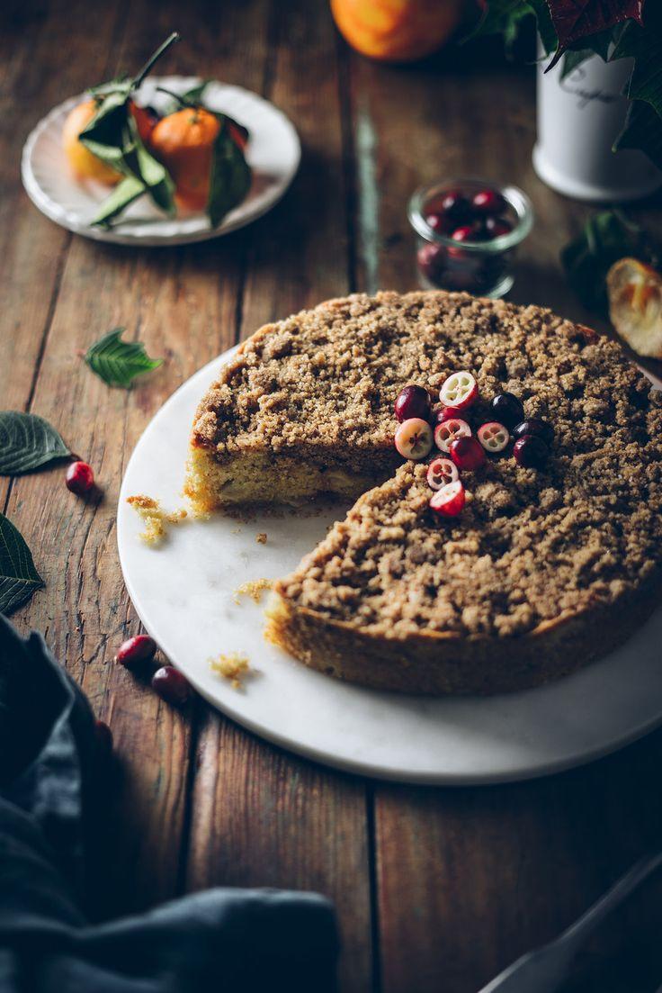 CRANBERRY & APPLE COFFEE CAKE — The Broken Bread