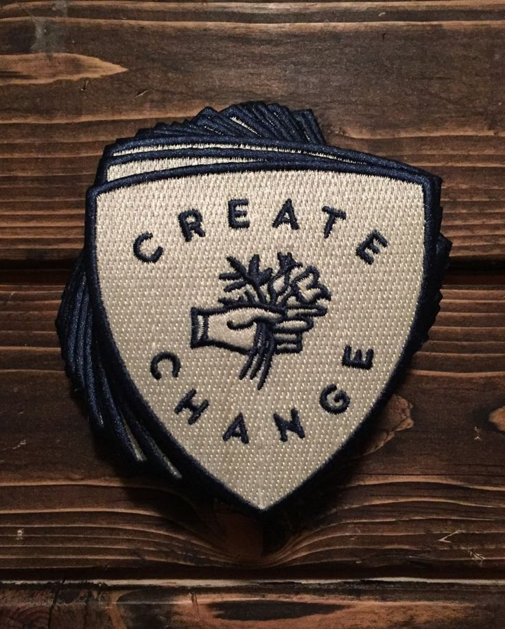 Create Change Patch - $5.00  http://takeheartapparel.com/product/create-change-iron-patch/