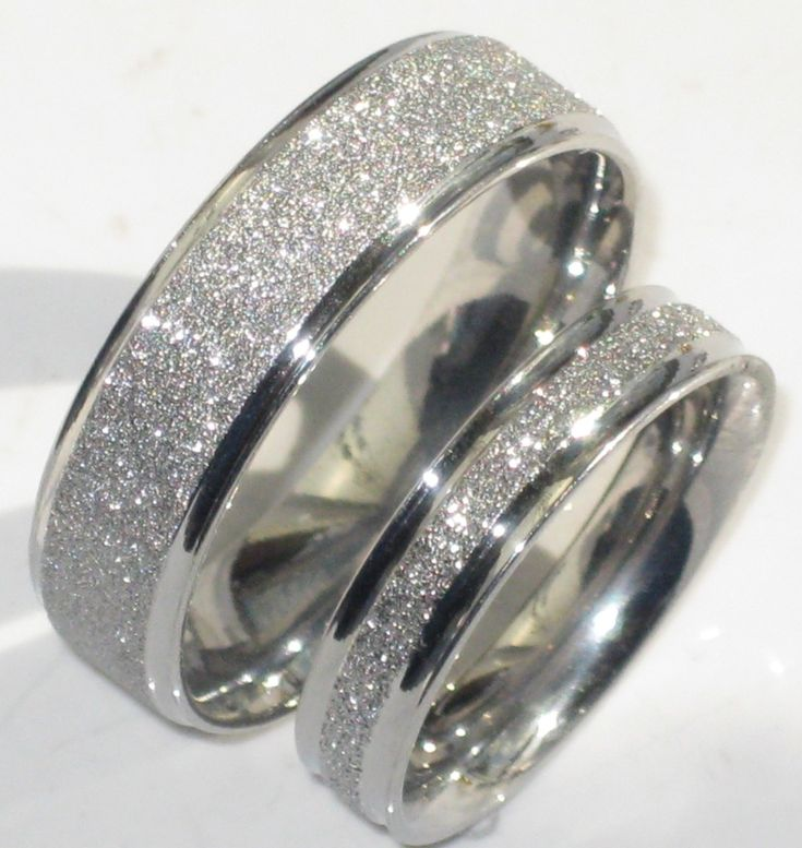 Mens or Womens Sparkleblast 6mm 4mm Sparkle Wedding Ring Band ...