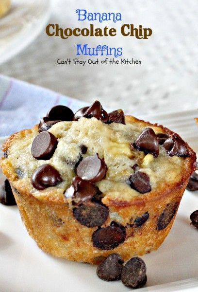 Oh, my heavens, Banana Chocolate Chip Muffins are so marvelous, you will want to bake up a batch of these tasty and delicious muffins every weekend for breakfast! Seriously, these muffins are amazing.