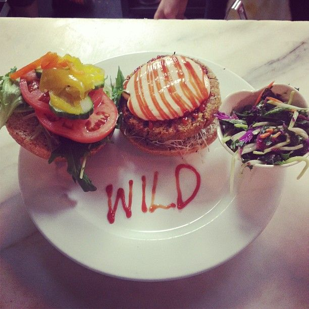 Our new walk on the wild side burger with some artistic embellishments.