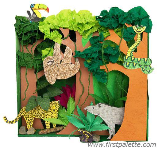 Rainforest Habitat Diorama