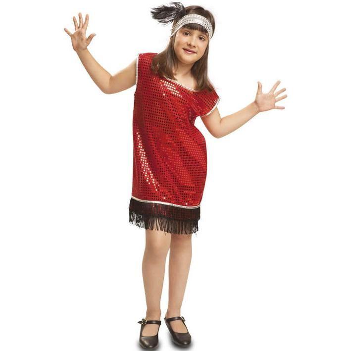 Disfraz de charlestón rojo para niña