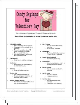 Download for Valentine's Candy Sayings