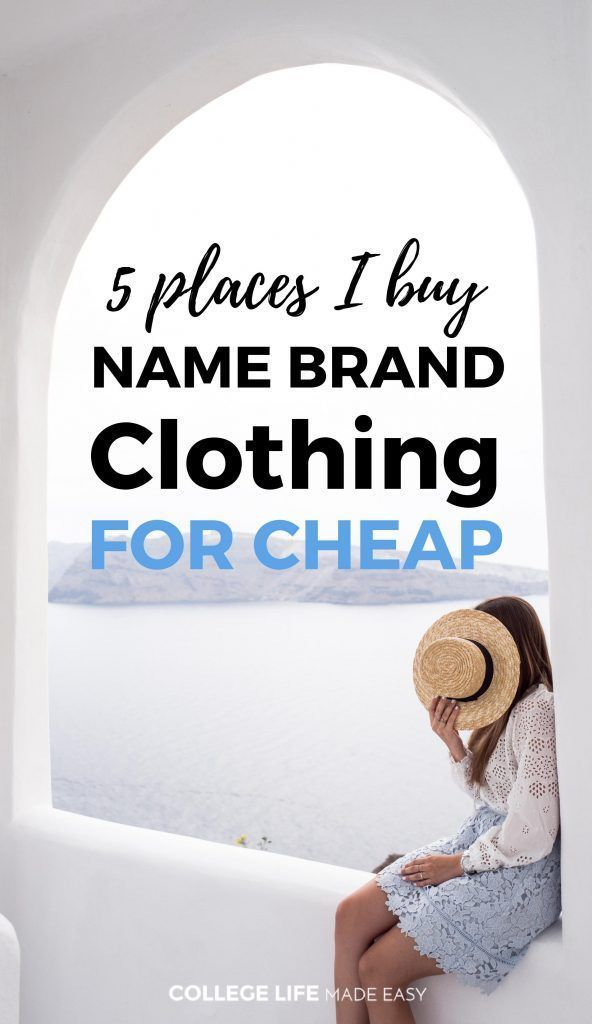 5 Places I Buy Name Brand Clothing for Cheap | Cheap Brand Name Woman Clothes | Ideas to Save Money on Clothes Posts Articles |  via @esycollegelife
