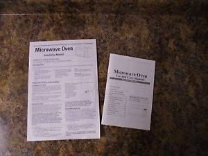 Microwave Use Care Installation Manual MCO165UW MCO165UB | eBay
