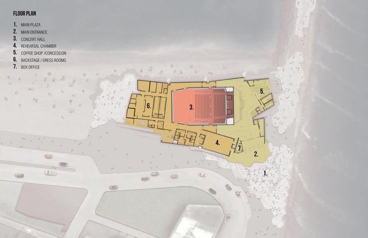 Rojkind Arquitectos' Foro Boca Breaks Ground in Mexico,Ground Floor Plan