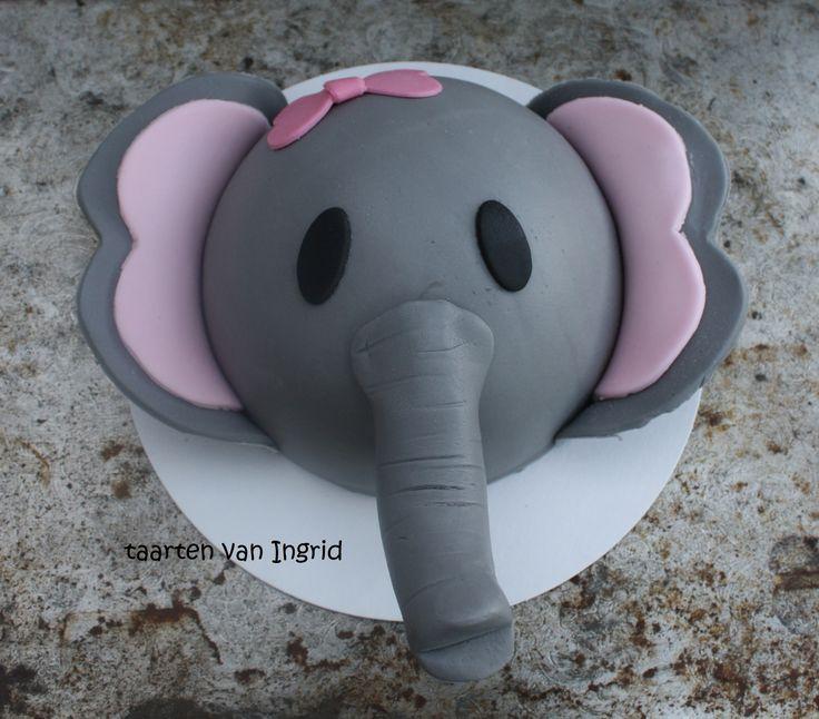 Olifant meptaartje / elephant cake