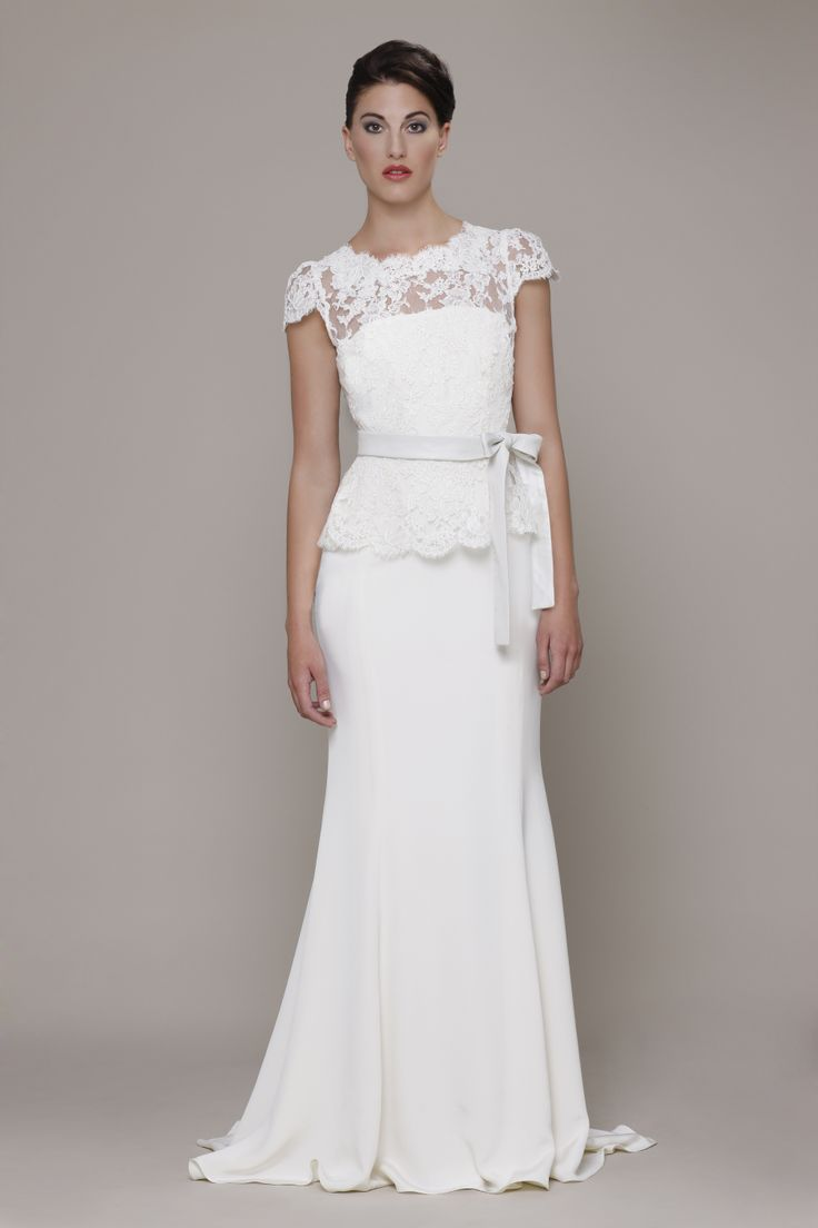 20 best elizabeth stuart at wisteria bridal images on for Peplum dresses for weddings