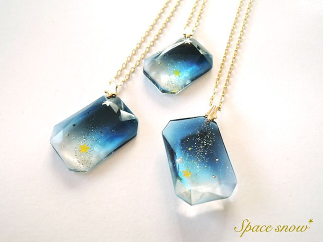 宇宙の宝石ネックレス(ブルー)