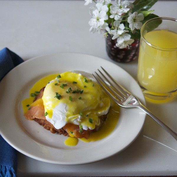 Eggs Benedict on a Potato Latke, great for Mother's Day Brunch http://manykitchens.com/collections/lindas-gourmet-latkes/products/latke-pack